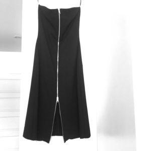 ZARA A line strapless dress